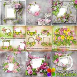 Scrap-set - Floral Bundle / Garden flowers